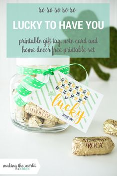 St Patrick's Day Printable Set St Patricks Day Quotes, St Patricks Day Food, Happy St Patricks Day, St Patrick's Day Appetizers, St Patricks Day Wallpaper, St Patrick's Day Outfit, St Patrick's Day Decorations, Lucky To Have You, St Patrick's Day Crafts