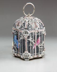 Judith Leiber, Nightingale Birdcage Clutch.   $5,595