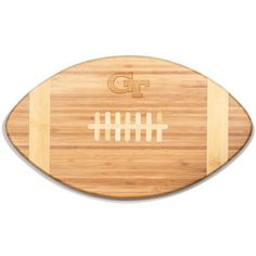 Picnic Time  Georgia Tech Yellow Jackets Tide Touchdown Bamboo Cutting... (44 CAD) ❤ liked on Polyvore featuring home, kitchen & dining, kitchen gadgets & tools, natural, bamboo chopping board, bamboo cutting boards and bamboo chopping block
