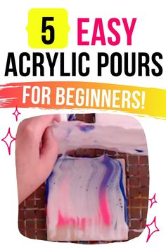 Pour Painting Techniques, Acrylic Pouring Techniques, Acrylic Pouring Art, Easy Paintings For Beginners, Acrylic Liquid, Candle Supplies, Artist Branding, Diy Art Projects, Fluid Acrylics