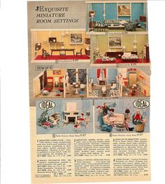 catalog page featuring Miner Industries and Ideal Petite Princess dollhouse stuff