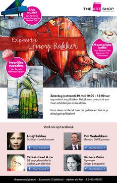 Zaterdag ochtend 30 mei 10:00 - 12:00, opening expositie Lincy Bakker.