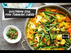 This is one of the tastiest vegetarian dishes ever. I love cooking with fresh turmeric, the vibrant colour, flavour and fragrance it imparts in the curr Fresh Turmeric, Fresh Ginger, Why Vegetarian, Vegetarian Recipes, Curry Ingredients, Crispy Shallots, Roasted Vegetables, Curries, Curry