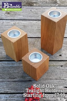 Beautifully crafted Solid Oak Tower Tea Light Holders. Create some Ambience in your home with these Solid Oak Tower Tea Light Holder.