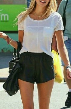 3. Faux Leather Shorts