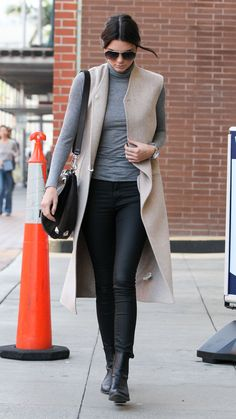 How to wear a sleeveless jacket like Kendall Jenner