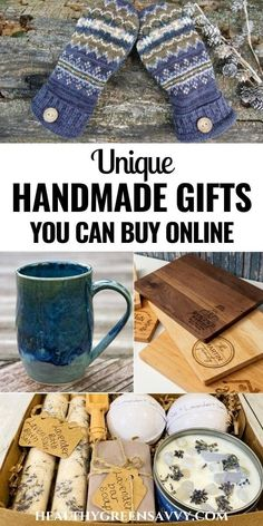 Even if you don't have time or the skill for handmade gifts, you can still give unique and beautiful presents to friends and family. Check out these delightful handmade gifts you can buy online. #handmade #giftguide #handmadegifts #holiday #giftsformen #christmasgiftideas Easy Homemade Gifts, Green Living Tips, Sustainable Gifts, Green Gifts, Leather Journal, Online Gifts, Natural Living, Zero Waste, Have Time