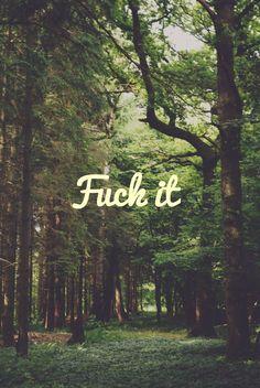 F*ck it