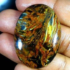 Natural Golden Pietersite Gemstone Cab Chatoyant Oval Cabochon 57.05Ct Exclusive #Qualitygems2014
