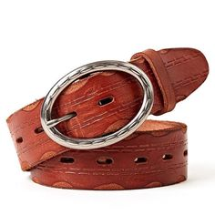 f54f1fdb766 Extra Off Coupon So Cheap Men Cowhide Washed Belt Italian Vegetable Tanned  Pure Leather Youth Pin Buckle
