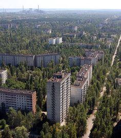Pripyat. Abandonada desde 1986 tras el accidente nuclear.