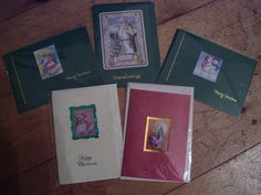 Selection of five Christmas greetings cards by CrowCottageCrafts,