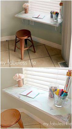 10 Brilliant & Do-able DIY Homework Stations // MPMK & Live Simply by Annie