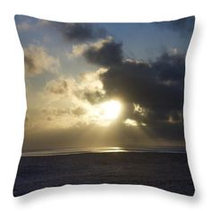 Throw Pillow featuring the photograph Poseidon Embellished By The Sun by Silvia Bruno