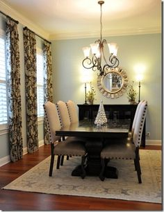 Dining room after interior decoration from heather scott store austin