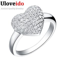 Uloveido 40% off Wedding Women's Luxury Jewelry Silver Micro Pave CZ Diamond Ring Engagement Heart Rings Zirconia Anillos J070♦️ B E S T Online Marketplace - SaleVenue ♦️👉🏿 http://www.salevenue.co.uk/products/uloveido-40-off-wedding-womens-luxury-jewelry-silver-micro-pave-cz-diamond-ring-engagement-heart-rings-zirconia-anillos-j070/ US $4.82
