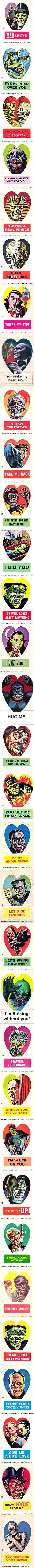 Norm Saunders Frankenstein Valentines Stickers (1966)