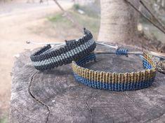 Minimal mens macrame bracelet Adjustable length waterproof