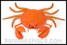 Paper Plate Crab Craft Kids Can Make from www.daniellesplace.com