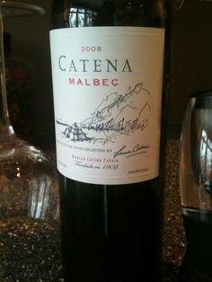 CATENA MALBEC, Argentina, 2008 . . .one of many favorites