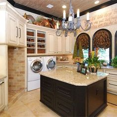 An amazing laundry area with the finest of detail to make those daily chores a little easier.