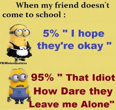 despicable me minions love quotes Funny Minion Pictures, Funny Minion Memes, Funny School Memes, Really Funny Memes, Stupid Funny Memes, Funny Relatable Memes, Haha Funny, Funny Facts, Hilarious