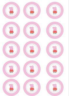 Lembrancinhas da Peppa - Cupcake Topper 3