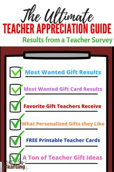 Teacher gift ideas from students! I asked over 50 teachers want they really want and the results are in! Browse through a list of DIY, inexpensive and small teacher gifts plus free printables that are perfect for men and women teachers! Small Teacher Gifts, Handmade Teacher Gifts, Personalized Teacher Gifts, Teacher Appreciation Cards, Teacher Cards, Teacher Survey, Leap Of Faith, Students, Photoshop