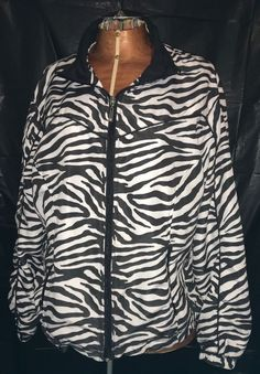 Women's ac-tiv-ology Jacket PXL Petite Do Zebra Print Black & White Fitness Euc #activology #CoatsJackets