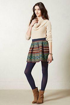 Anthropologie / sweater - skirt