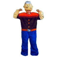 Popeye code produit : 952-101 2 pièces : Combinaison et Coiffe. Taille(s) : Unique.