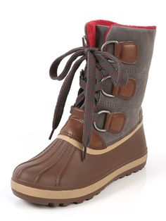 Online shopping for Bamboo Blizzard-01 Chunky Buckle Duck Boots  CHESTNUT from a great selection of women's fashion clothing & more at MakeMeChic.COM.