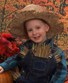 DIY Scarecrow Halloween Costume Idea:  Child at Heart Blog