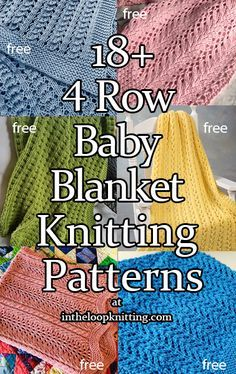 Knitting Patterns in for 4 Row Repeat Baby Blankets. Most patterns are free. Knitting Patterns in for 4 Row Repeat Baby Blankets. Most patterns are free. Baby Knitting Patterns, Free Baby Blanket Patterns, Knitted Afghans, Knitted Baby Blankets, Easy Knit Baby Blanket, Quick Knits, Easy Knitting, Loom Knitting Blanket, Beginner Knitting
