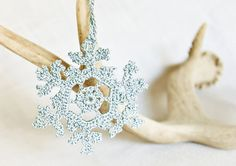 A touch of frosty blue by Laura and Kim on Etsy