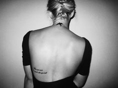Placement for quote on my back