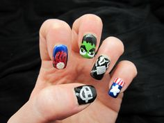 Creative Nail Design by Sue: Avenger Nails