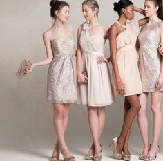 champagne dresses and pretty variations