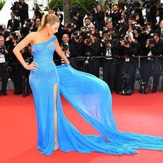 Breeze into Monday like you're wearing @blakelively's sparkly princess gown.  #Cannes