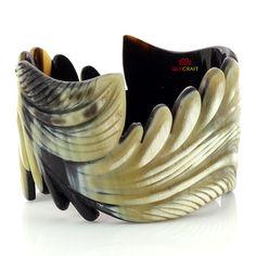 QueCraft Horn Jewelry Bangle Bracelet Handmade by quecraft on Etsy, $34.80