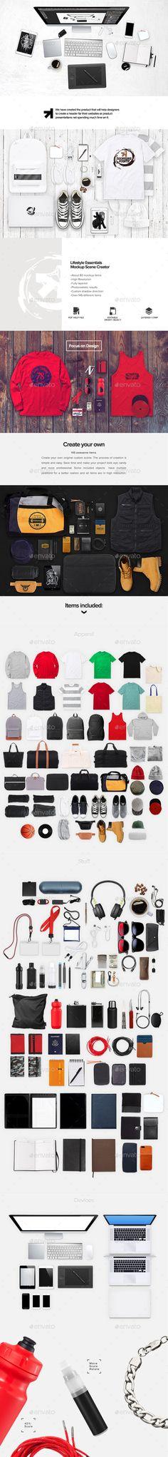 Apparel Lifestyle Essentials Mockup Creator #design Download: http://graphicriver.net/item/apparel-lifestyle-essentials-mockup-creator/12125715?ref=ksioks
