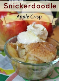Snickerdoodle Apple Crisp - Joyful Momma's Kitchen