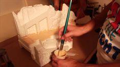 Presepe natalizio: Dipingere montagne e muri - Parte3