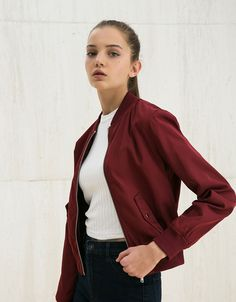 Bomber jacket - NEW COLLECTION - WOMAN - Bershka Singapore