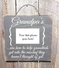 Fathers Day Gift Grandpa Sign Frame By FarmhouseChicSigns Grandma And Gifts