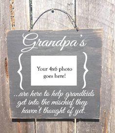 Father's Day gift grandpa sign grandpa frame by FarmhouseChicSigns