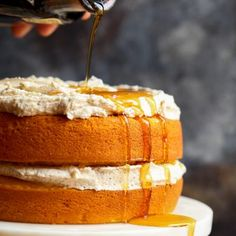 Perfect Pumpkin Cake with Browned Butter Maple Frosting starts with a cake mix making it SO light and fluffy. And the frosting is a stunning browned butter maple buttercream. Fall perfection! I don't know about you but fall can't come soon enough. I am beyond ready to ditch the shorts and all the sweating for …