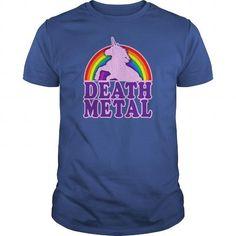 Funny Death Metal Unicorn vintage distressed look