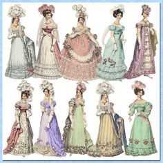 Le Plume Regency Paper Dolls Png Files by Darvahlous on Etsy
