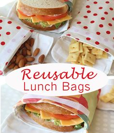 Make snack bags that are washable - great for on the go!